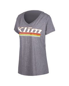 KUTE V-NECK T Gray Frost - White
