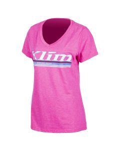 KUTE V-NECK T Pink Frost - Gray