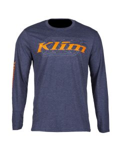 K CORP LS T Heathered Navy - Strike Orange