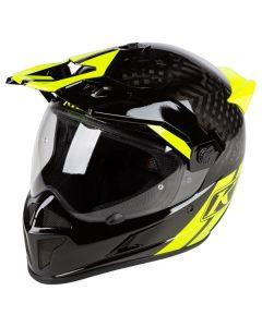 Krios Karbon Adventure Helmet ECE Twotrack Vivid Black
