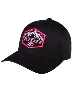 GLACIER HAT Black - Knockout Pink