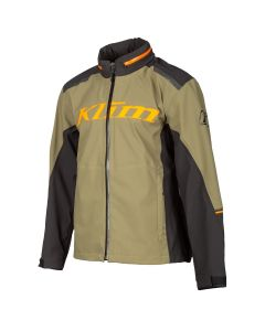 Enduro S4 Jacket Burnt Olive - Strike Orange