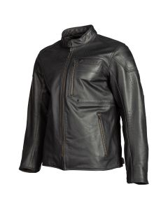 SIXXER LEATHER JACKET GUNMETAL BLACK