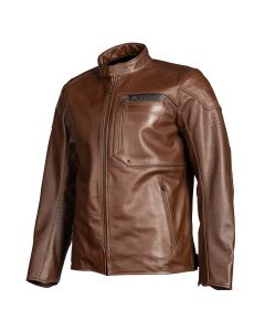 SIXXER LEATHER JACKET SIENNA BROWN