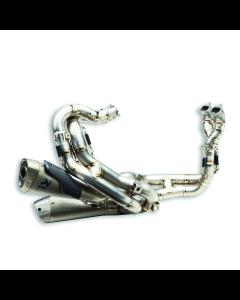 Complete titanium exhaust system.